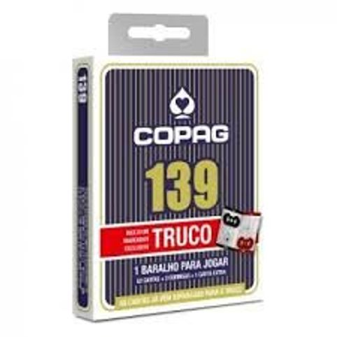 Baralho Copag 139 Para Truco Com Marcador De Pontos Azul 1623f60699381